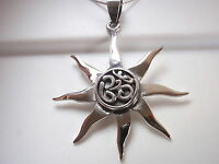 OHM 925 Sterling Silver Pendant Corona Sun Jewelry