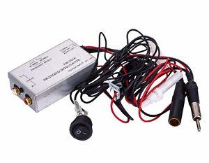 Factory Radio Stereo FM Modulator RCA AUX Input Audio Converter