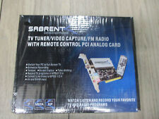 SABRENT TV Tuner Video Capture/FM Radio With Remote PCI Analog card *NEW*