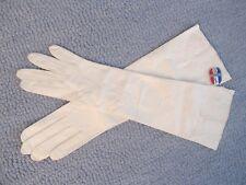 Vintage - Long Opera Gloves - Soft Kid Leather - Grenoble France - Size 6 - Tag