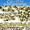 Glass Gold Crystal Non Hotfix Flatback Rhinestones SS12, SS16, SS20 Nial Art