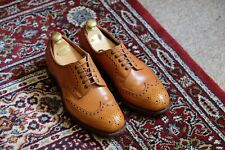 Vintage Edward Green Full Brogues Size 7E - 53 Last - Antique Tan - Leather Sole
