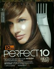 CLAIROL PERFECT 10 - #6 Light Brown - Quick and Easy to Use - 4 Boxes!!!