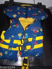 COLEMAN CHILD SAFETY VEST LIFE PRESERVER w NECK BRACE + SAVE HANDLE CHEST 20-25""