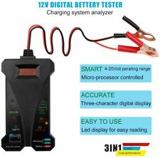 12V Smart Lcd Digital Battery Tester Voltmeter Alternator Analyzer for Car Motor