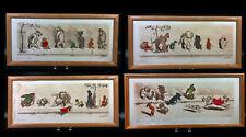 Set of 4 Boris O'Klein Signed Prints Dirty Dogs of Paris a La Queue L' Etourdie
