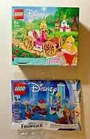 LEGO Disney Princess 43173 Aurora's Royal Carriage + 30553 Elsa's Winter Throne