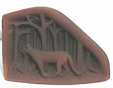 """One of a kind """"Cougar in the Woods"""" Sandstone Sculpture"""