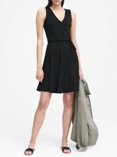 Banana Republic Soft Ponte Wrap Dress ~ Black NWD 0
