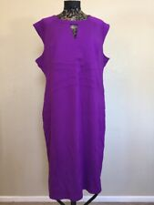 Eloquii Shift Dress Size 20 Purple Stretch Career Bodycon Comfort Plus