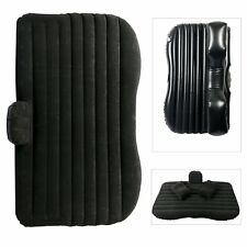 Inflatable Travel Camping Car Seat Sleep Rest Mattress Air Bed W/ Pillows-Black