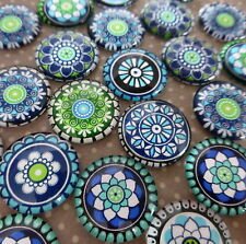 20 pcs  Glass Domed round Cabochons mix floral pattern, size 18mm