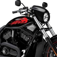 Flame Fuel Tank Decal Vinyl Motorcycle Motorbike Sticker X 2 Fire Motor Bike K2