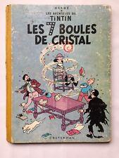 TINTIN LES 7 BOULES DE CRISTAL T 13 / BD B12 1955 / HERGE / CASTERMAN / TBE