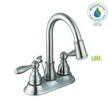 "Glacier Bay Mandouri 4"" LED Bathroom Faucet in Brushed Nickel 67513W-6B04"