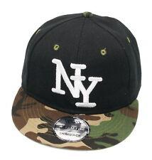 Cappy Kinder Kids Junge Mädchen Cap Basecap Schirmmütze New York Schwarz Camo