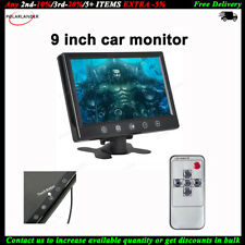 """9"""" TFT LCD Car Parking Monitor+Remote+2 CH Video Input for VCD DVD Camera STB"""