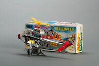 #Antique Tin Toy# Takatoku Windup Emergency Skypartol Helicopter Japanese