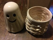 New ListingLongaberger Boo! Ghost Basket Rare Halloween White with Protector 2013