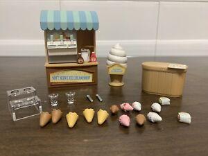 sylvanian families, tienda de helados. Usado
