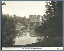 Allemagne, Bad Salzbrunn, Der Untere Schwedenteich Vintage print.  Tirage arge