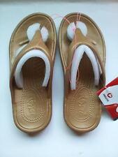 Holeys Soles Summer Sandals Shoes FLIP FLOPS Drifter GOLD Women's Sz 7