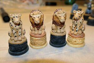 Schachfiguren - Tiere - wilde Tiere - komplett
