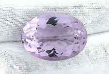 36.50 Carat Natural Brazilian Oval Rose De France Amethyst Gemstone Gem Stone