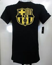 BARCELONA BLACK BASIC CORE TEE SHIRT BY NIKE ADULTS SIZE MEDIUM BRAND NEW