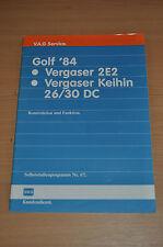Selbststudienprogramm SSP 67 VW Golf 1984 Vergaser 2E2 Keihin 26/ 30 DC