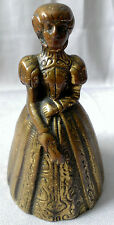 Antique FIGURINE BRONZE Brass Victorian Woman Lady Table BELL