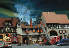 130429 Faller HO Kit of a Zur Sonne burnt-down restaurant - Patinated model NEW