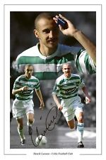 HENRIK LARSSON CELTIC LEGEND SIGNED PHOTO MONTAGE PRINT SOCCER AUTOGRAPH