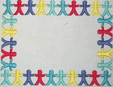 Paper Dolls Embroidered Quilt Label Customize for quilt tops or blocks