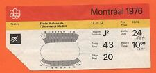 Orig. Billet Jeux Olympiques Montréal 1976-HOCKEY!!! très rare