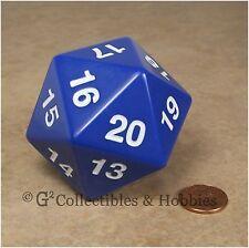 NEW 55mm Blue Giant Jumbo D20 Spindown Dice RPG D&D MTG Counter Die