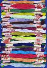 100pcs Art Silk/Rayon Stranded Skeins Embroidery Thread