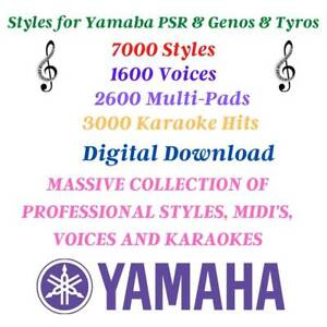 YAMAHA PSR & GENOS & TYROS ✅ STYLES ✅ KARAOKE ✅ MULTI-PADS ✅ VOICES PACK