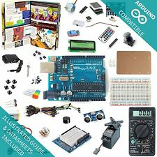 UNO R3 Ultimate Starter Kit - Breadboard, Shield, Sensor, with Guide For Arduino