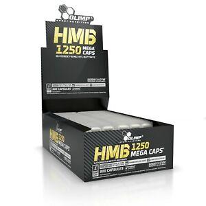 OLIMP HMB 1250 Mega Caps 900 Caps ANTICATABOLIC FORMULA, STRENGTH & LEAN MUSCLE