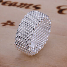 Free shipping wholesale sterling solid silver fashion jewelry mesh Ring XLSR040