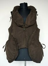 Hebbeding Brown Sleeveless Cardigan/Vest, Size:1