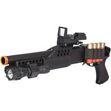 320 FPS SAWED OFF PUMP SHOTGUN SPRING AIRSOFT GUN w/ RED DOT SCOPE 6mm BB BBs