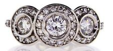1.20 CT G/ SI1 Natural Diamond Ring 3 Stones 14k Gold Round Cut Brilliant Size 7