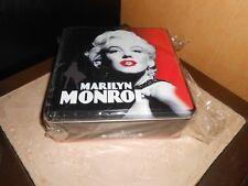 boîte déco métal MARILYN MONROE carrée, noir/rouge/blanc - neuve