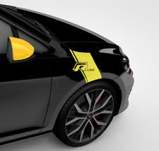 NEU: VW Golf 7 R & Polo 6 RSeiten Tuning Aufkleber (GELB)