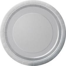 20 petites assiettes en carton Argent - 209236 Taille Unique