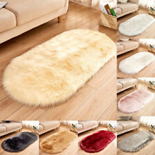 Soft Anti-Skid Fluffy Rugs Shaggy Area Dining Room Carpet Floor Mat Home Bedroom