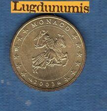 Monaco 2003 50 Centimes D'Euro Pièce neuve de rouleau Sceau des Grimaldi