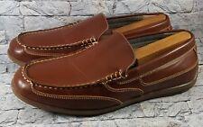 Nunn Bush Men's Brown Dual Comfort Memory Foam Moc Toe Casual Loafers Shoes 12 M